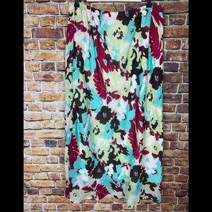Merona Bold Floral Maxi Skirt Size 1X